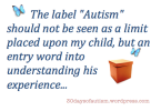 Diagnosis: AUTISM ...part 1