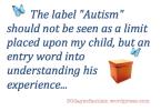 Diagnosis: AUTISM ...part 1