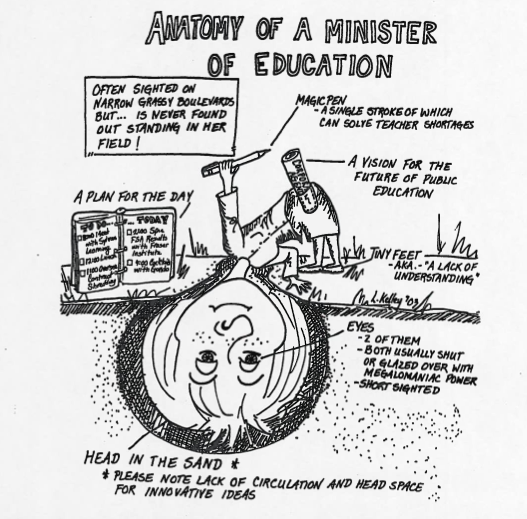 Anatomy of a Minister of Education