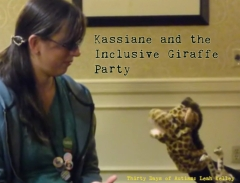 Kassiane teaching the Giraffes about Photo Senstive Epilepsy