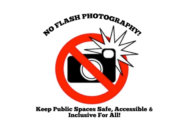 No Flash Printable Sign